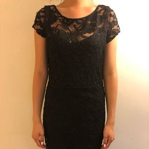 H&M Black floral and Lacy dress used